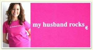 My Husband Rocks Signature Tee
